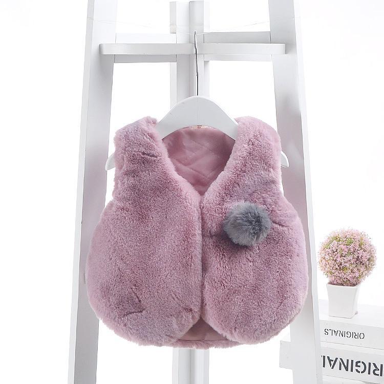 48d21e455 Newborn Baby Faux Fur Vest 2018 Autumn Winter Thick Warm Waistcoat ...
