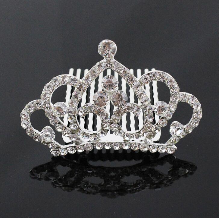 Wedding flower children Crystal Tiara Crown Rhinestone Hair Combs Hair Jewelry for wedding party birthday gift