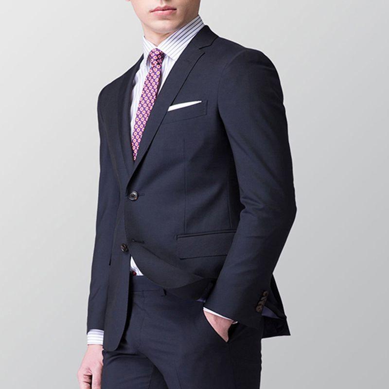 Custom Made Men Suit 2018 Smart Casual Black Business Suit Wedding