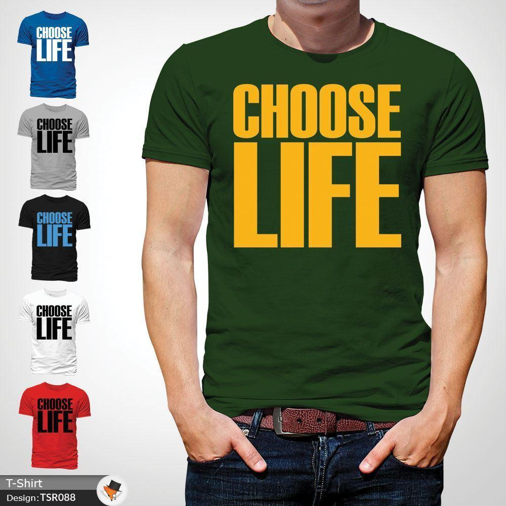 5c6ecfc4c Choose Life T Shirt Wham! Inspired Tee 80s Fancy Dress George Michael Green  ! Casual Funny Unisex Tee Gift Custom T Shirts T Shirt Printing From ...