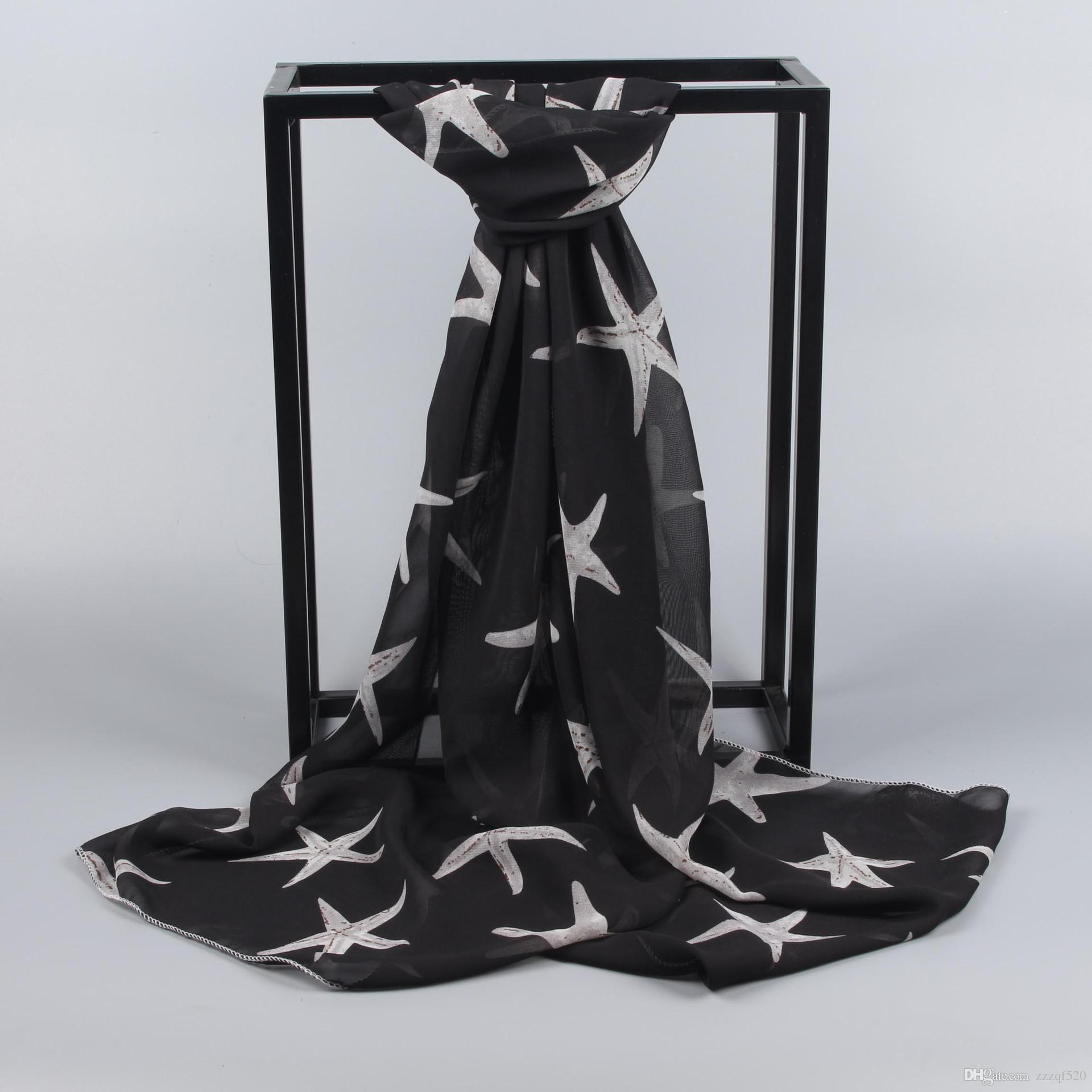 Starfish Star Prints Beach Sciarpa Scialle Sciarpe di moda Scialli le donne Ladies Girls in estate Primavera