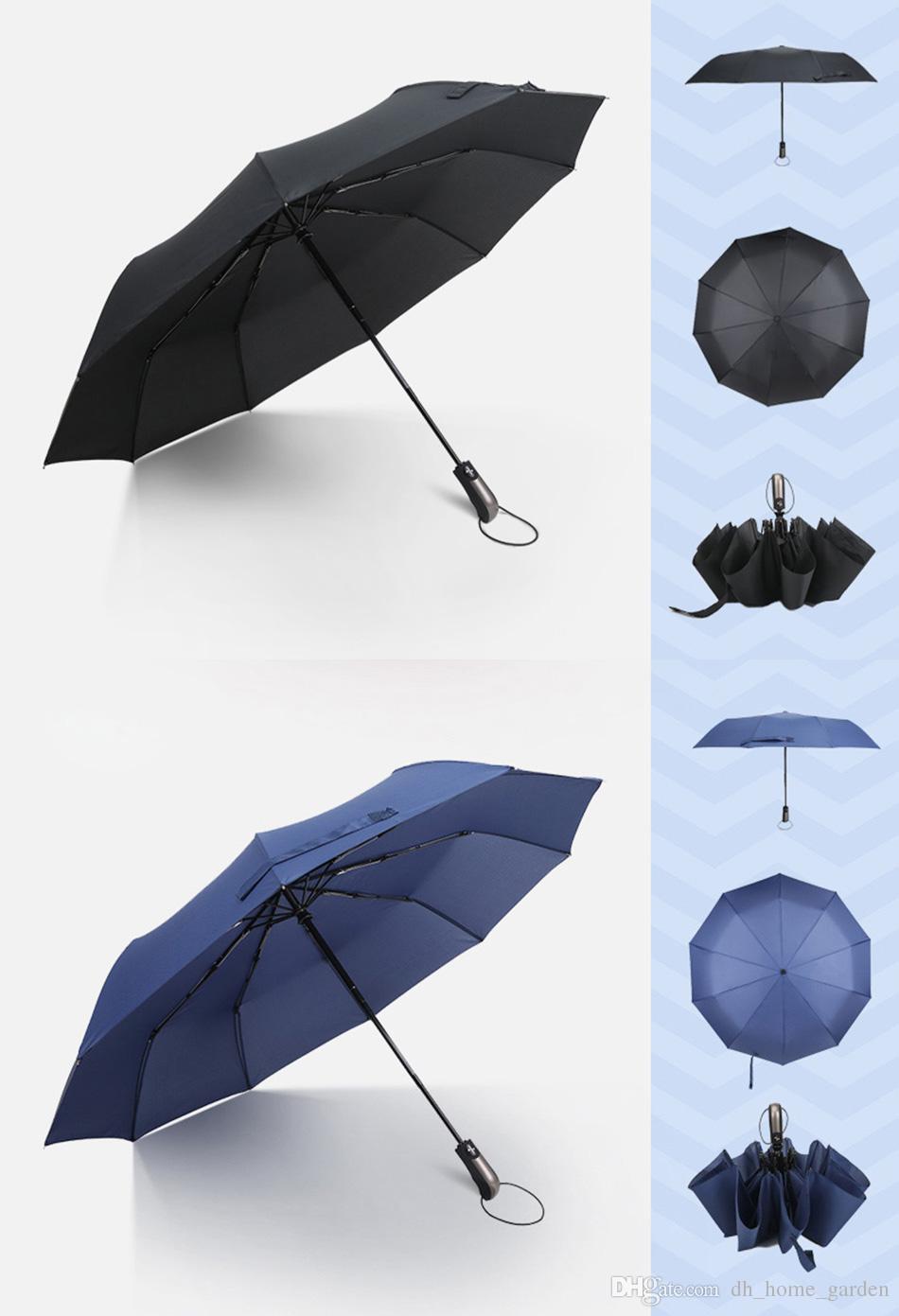 d8e3f931de46 Wind Resistant Folding Automatic Umbrella Male Auto Luxury Big Windproof  Umbrellas For Men Rain Black Coating 10K