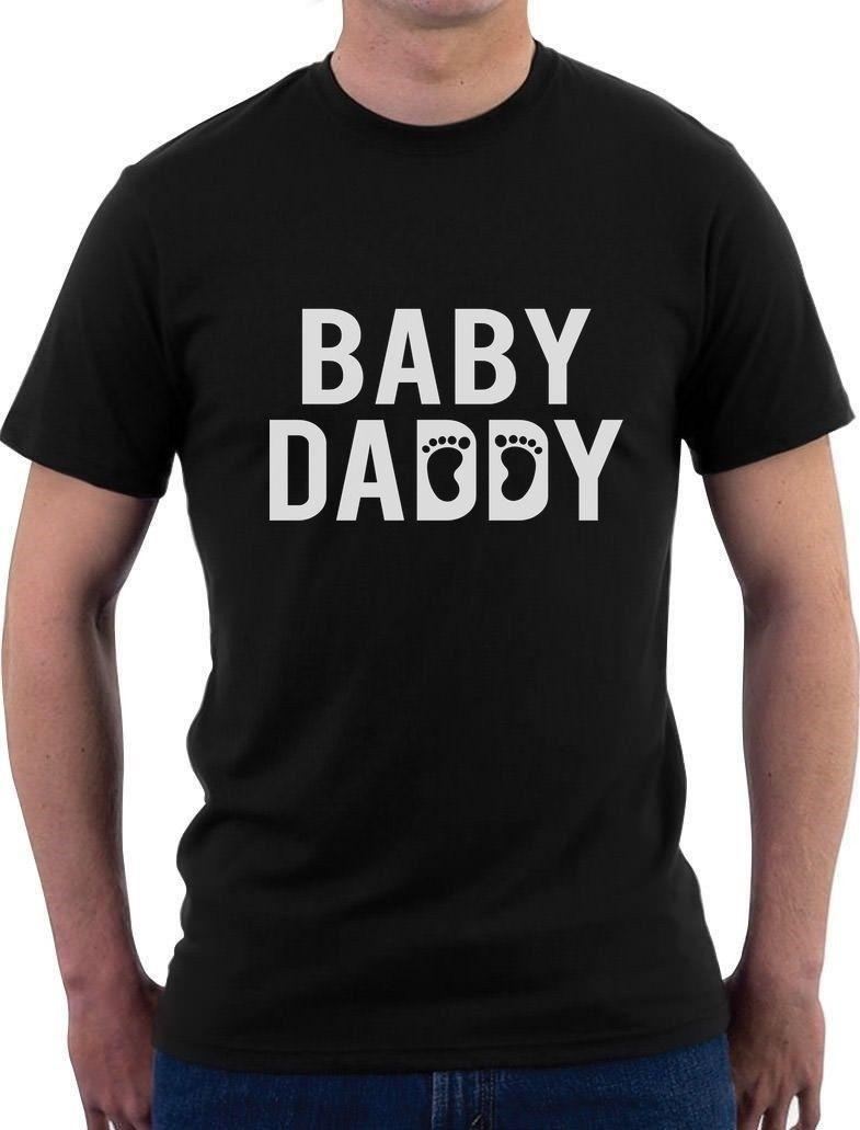 a47e3f7c Baby Daddy Funny New Dad Father's Day Gift For New Father T-shirt Novelty  Funny Clothing Casual Short Sleeve T Shirts