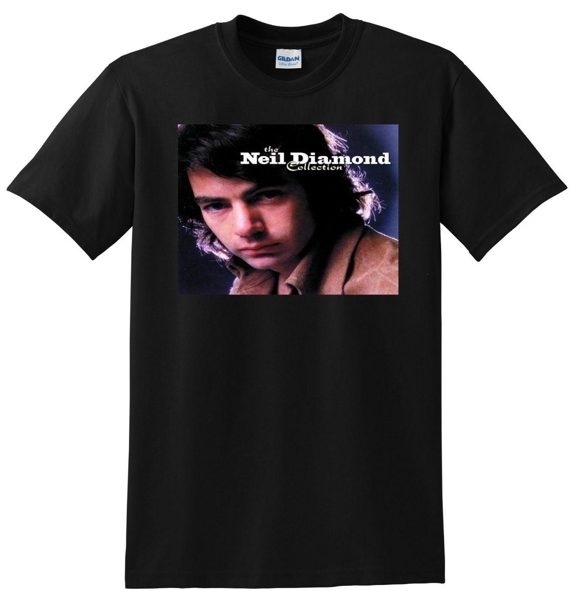 edc979c9ef    NEIL DIAMOND T SHIRT The Collection Best Of Vinyl Cd Poster S M L Or XL  Mens T Shirt Summer O Neck 100% Cotton Men Short Sleeve Tee Awesome T  Shirts ...