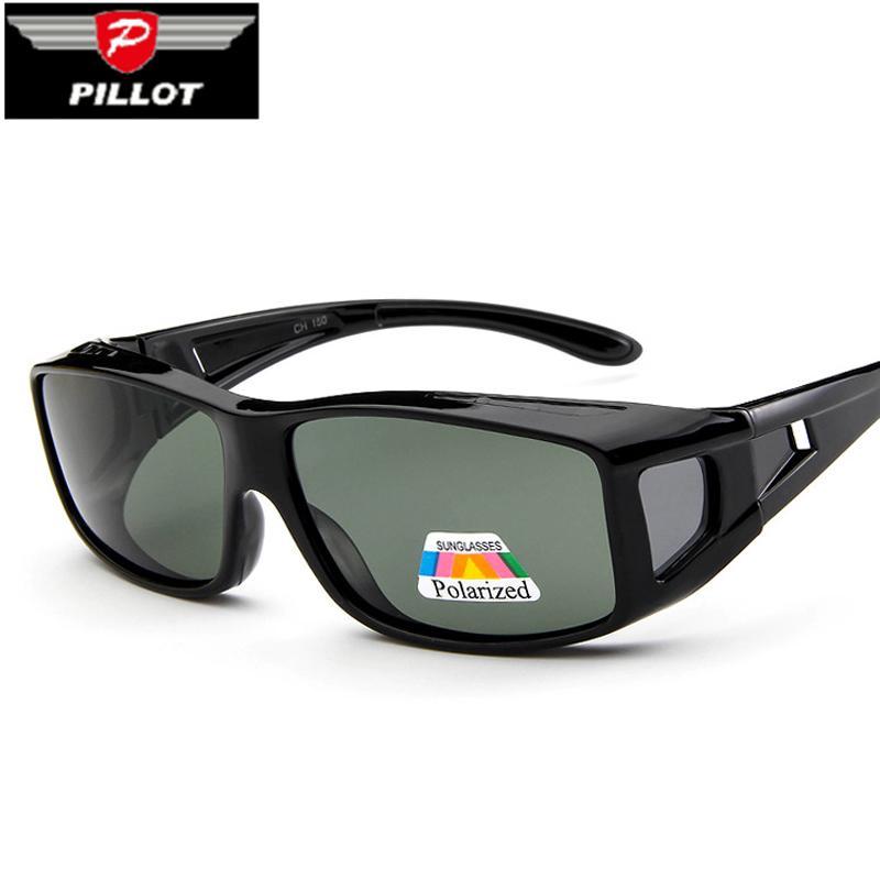 a915445696914 Pillot New Men Polarized Lense Driving Fishing Sunglasses Cover For Myopia  Glasses POLAROID Sun Glasses Oculos De Sol Masculino Sports Sunglasses  Cheap ...