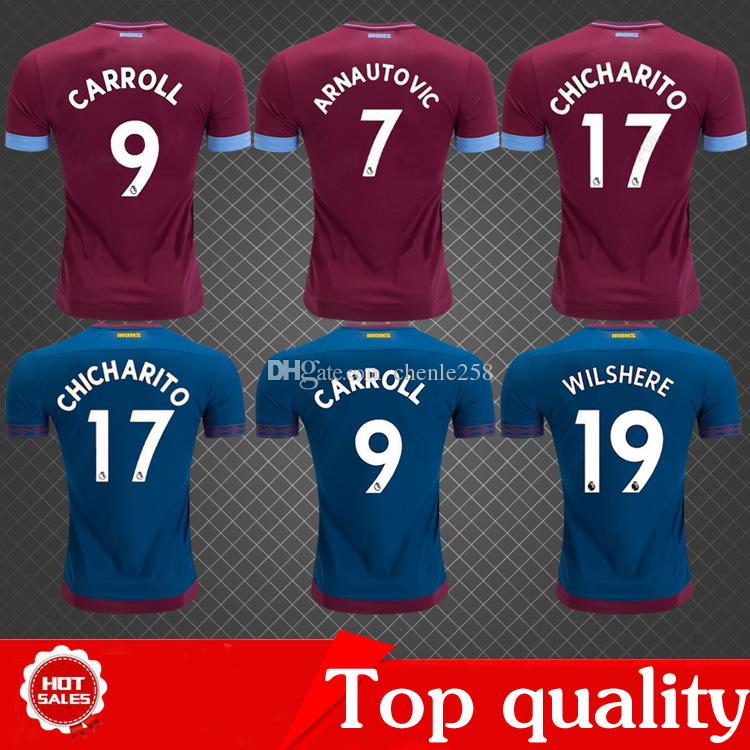 save off 77d06 28451 Top quality 2019 west ham united soccer jersey CHICHARITO ARNAUTOVIC  CARROLL WILSHERE NOBLE J.MARIO 18/19 football shirt