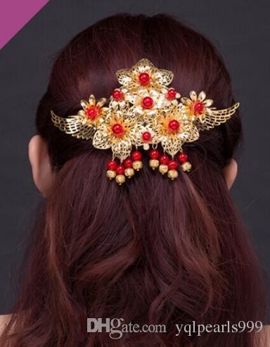 Gelin retro saç headdress Kostüm Takı Düğün Gelin kelebek püskül aksesuarları
