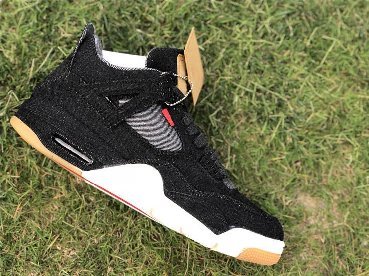 f6c253f5a7d 2019 2018 Authentic 4 Black Denim LS GS Blue Jean 4S Basketball Shoes For  Men,AO2571 001 Black White Blue 4S Running Sneakers Limited Release From ...
