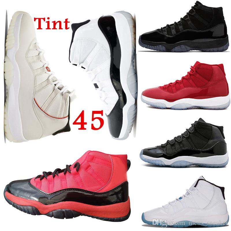 80b2a46fb44 11s Platinum Tint Concord 45 Mens Basketball Shoes XI Win like 82 ...