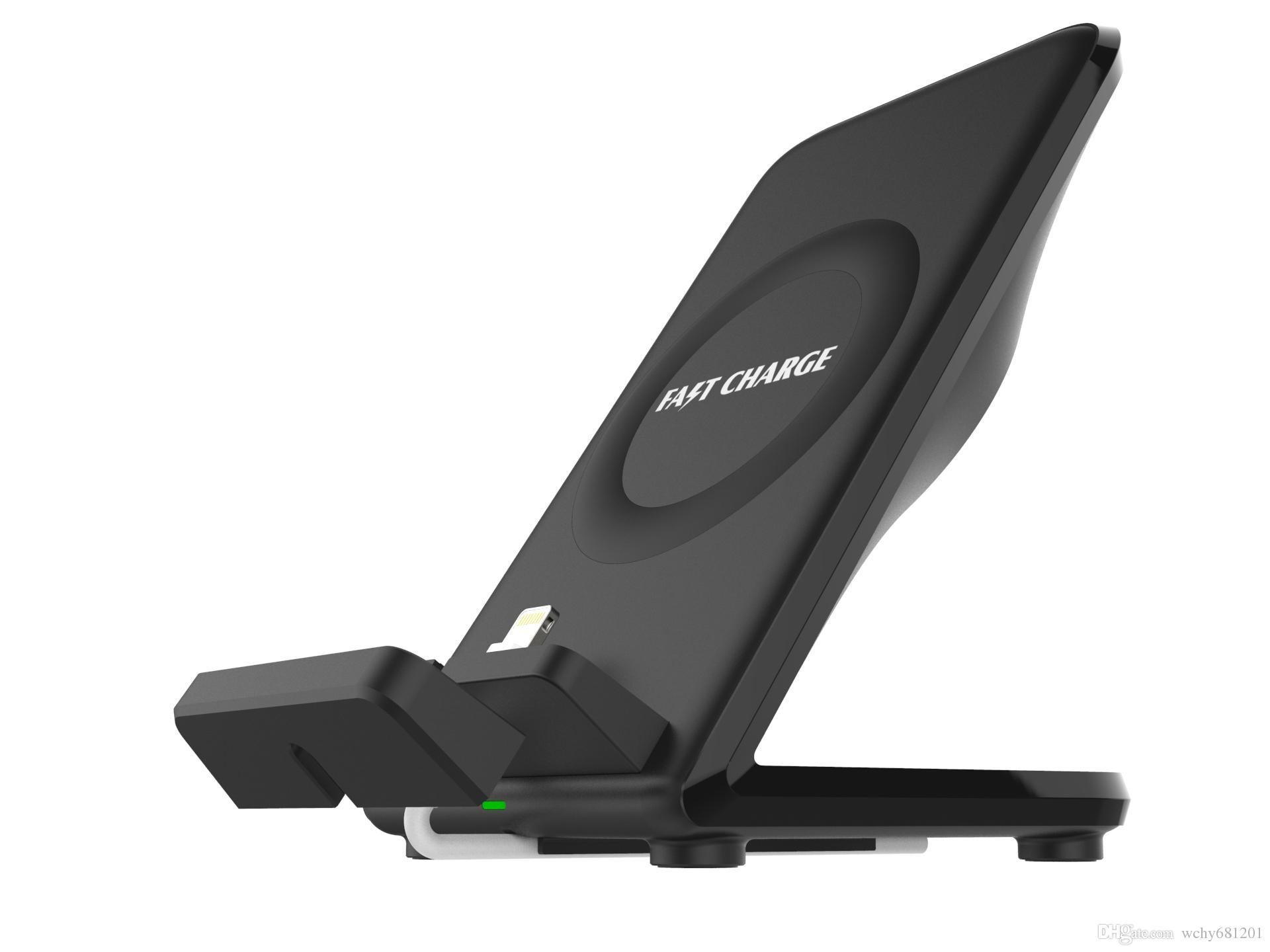 Mindzo F18 fast wireless charger for iPhone X 8 Samsung Note 9 Galaxy S9 S7  S6 Edge Phone Fast Wireless Charging Docking Dock Station