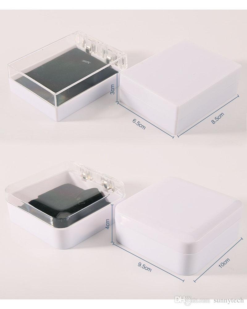 Alta Qualidade Acrílico Jóias Display Pulseira Pingente de Caixa Transparente Branco Pulseira de Embalagem Frete Grátis Atacado ZA5623
