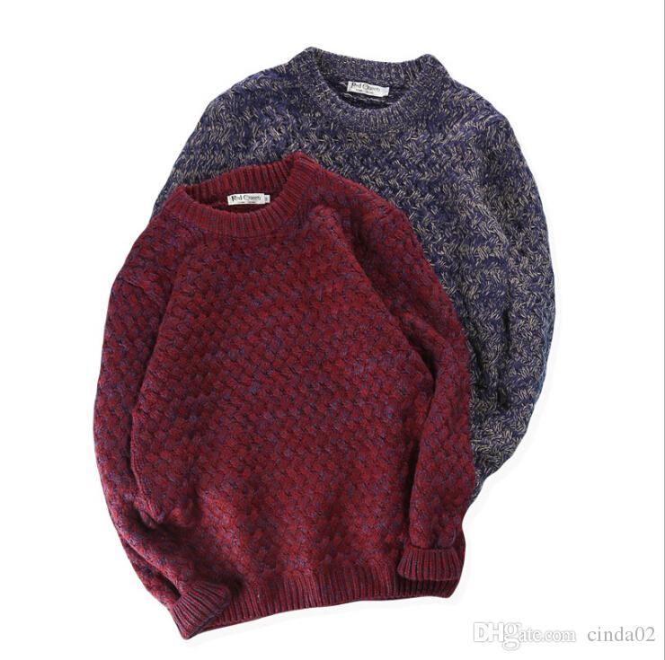 9e48129f8 Discount Vintage Pure Color Man S Sweaters Winter Spring Warm ...