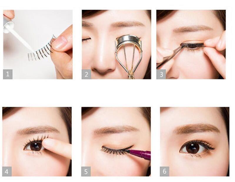 Belleza impermeable pegamento de pestañas pestañas postizas pestañas maquillaje Adhesivo latigazo del ojo del pegamento fina firme para uso en el hogar Mujeres