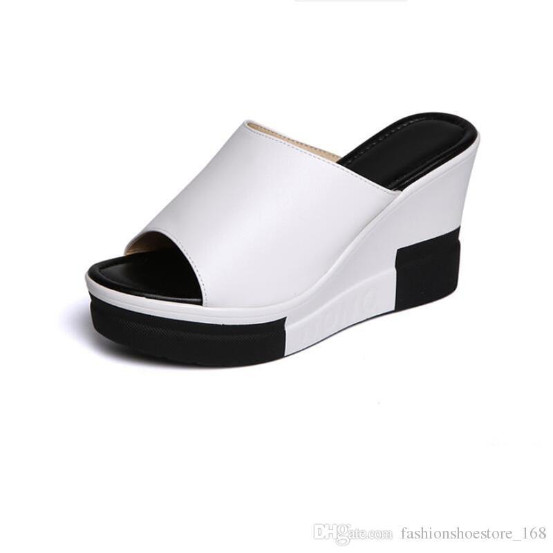9adabbdec6b Gladiator Sandals Women Platform Wedges Shoes For Women Sandals 2018 Summer  Fashion Ladies Peep Toe Wedges Slippers Women Summer Sandals Black Wedges  ...
