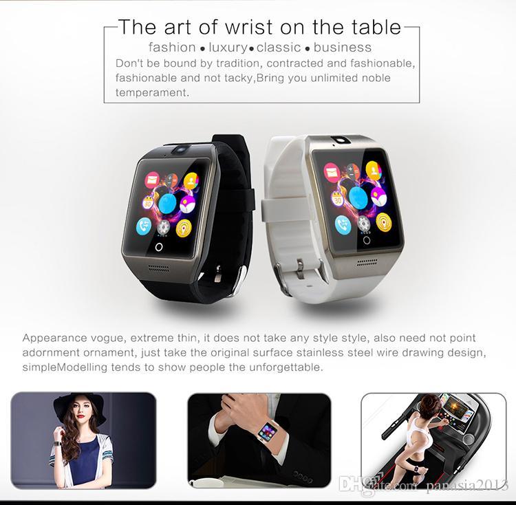 Sıcak satış Q18S smart watch bluetooth smartwatch kamera TF Kart ve SIM Kart Q18S Akıllı İzle NFC Bluetooth IOS ve Android ile Uyumlu