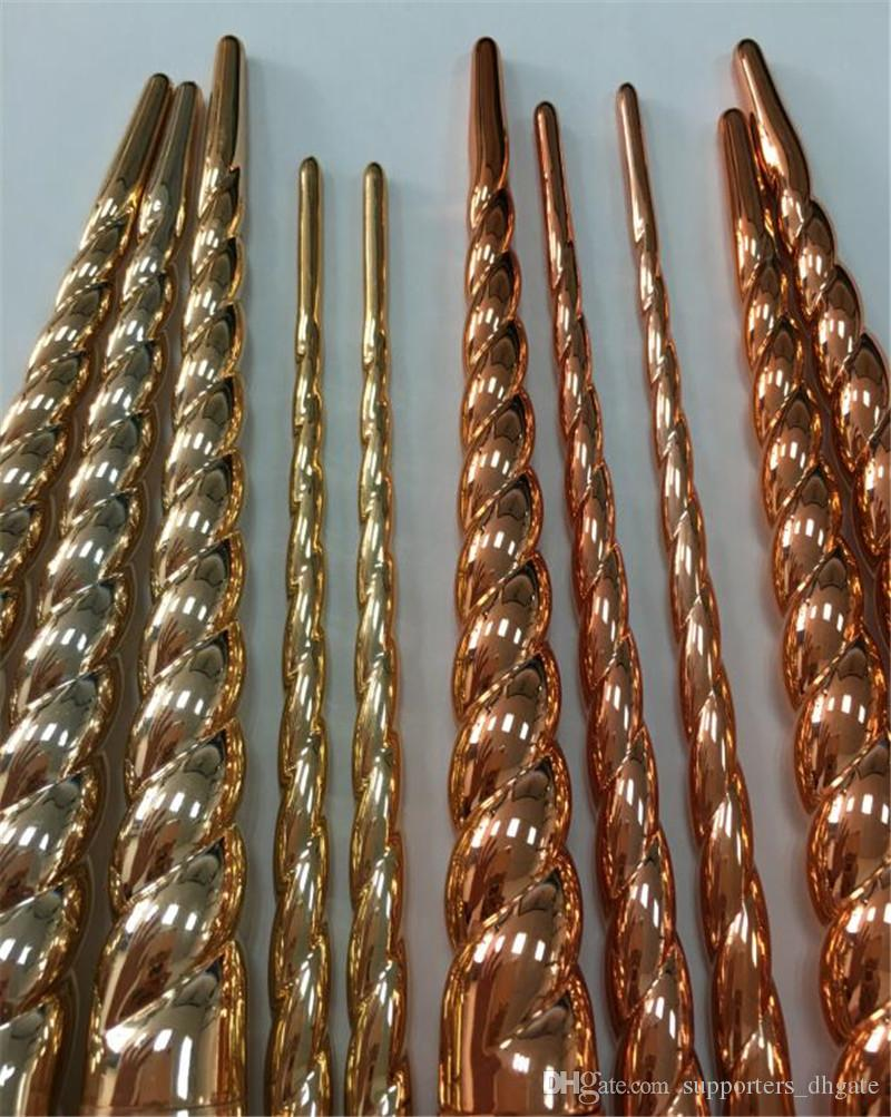 Dropshipping makeup brushes sets cosmetics brush bright colors rose gold Spiral shank make up brush screw tools Contour Retail box