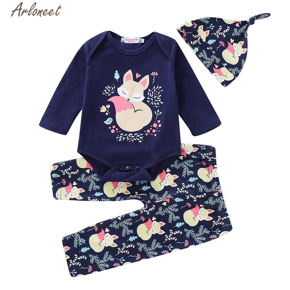 87f361d0d 2019 ARLONEET Clothes Girls Boys Baby Navy Long Sleeve Cartoon Fox ...