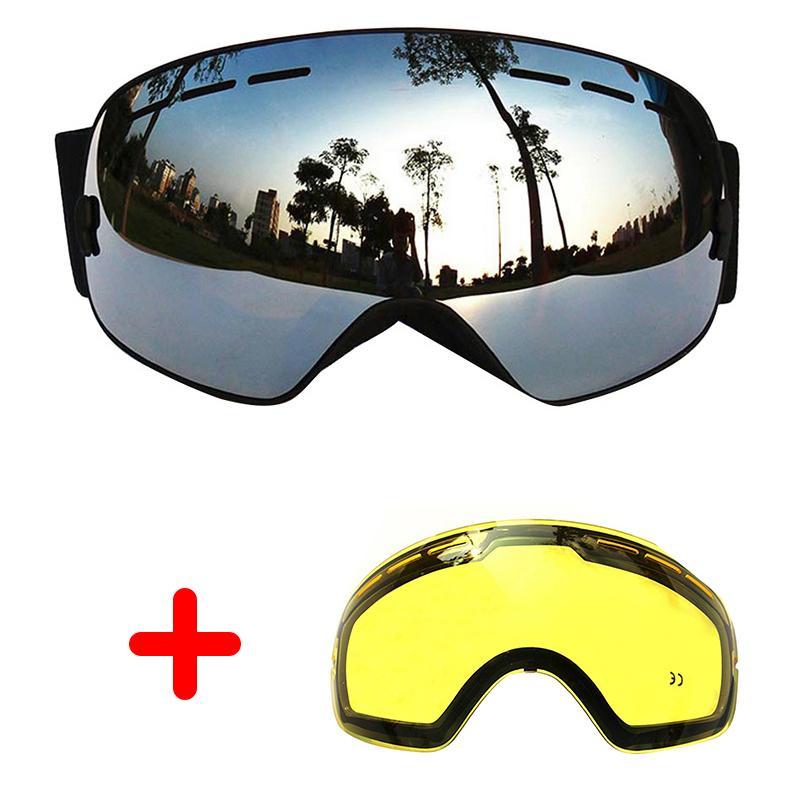 Compre COPOZZ Óculos De Esqui UV400 Lente Dupla Anti Nevoeiro Óculos De Sol  Esqui Snowboard Grande Óculos De Inverno Máscara Esférica + Lente C18110301  De ... 4f1eddb947