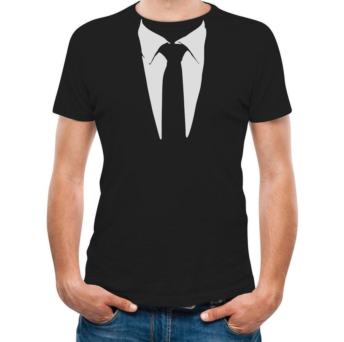 Printed Tee Shirt Design Printed Suit Tie Tuxedo Mens T Shirt