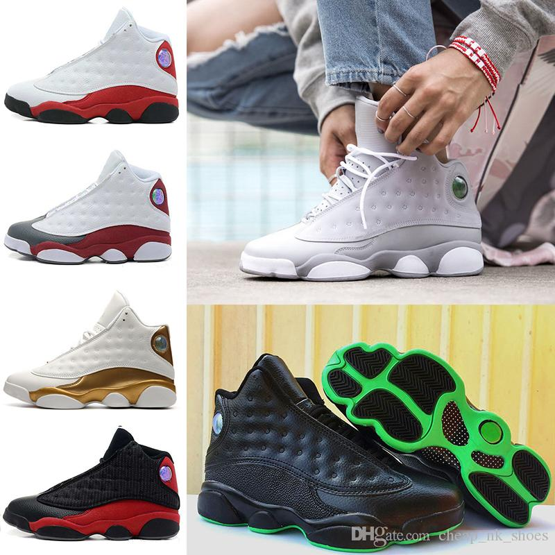 2018 Cheap Men 13 Basketball Shoes Altitude 95 Black Cat Bred Black Red  White Dmp Gs Bordeaux Hyper Royal Wheat Sports Shoes 41 47 Shoes Mens  Online Shoes ...