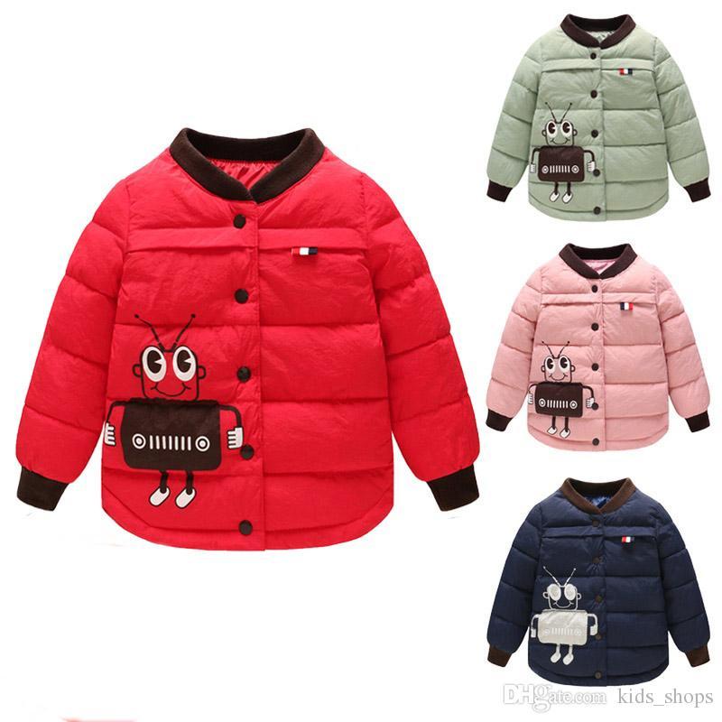 195007fc6428 2018 New Cartoon Printed Children S Down Cotton Inner Liner Warm ...