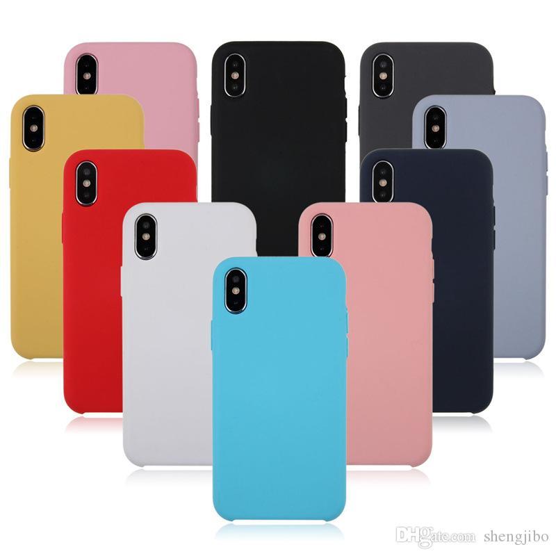 a31745b28a9 Fundas Para Celulares Funda De Silicona Original Para IPhone 7 Plus  Cubierta Posterior Para IPhone X 6S 6 Plus Funda De Teléfono Para IPhone 8  Plus Caja Al ...