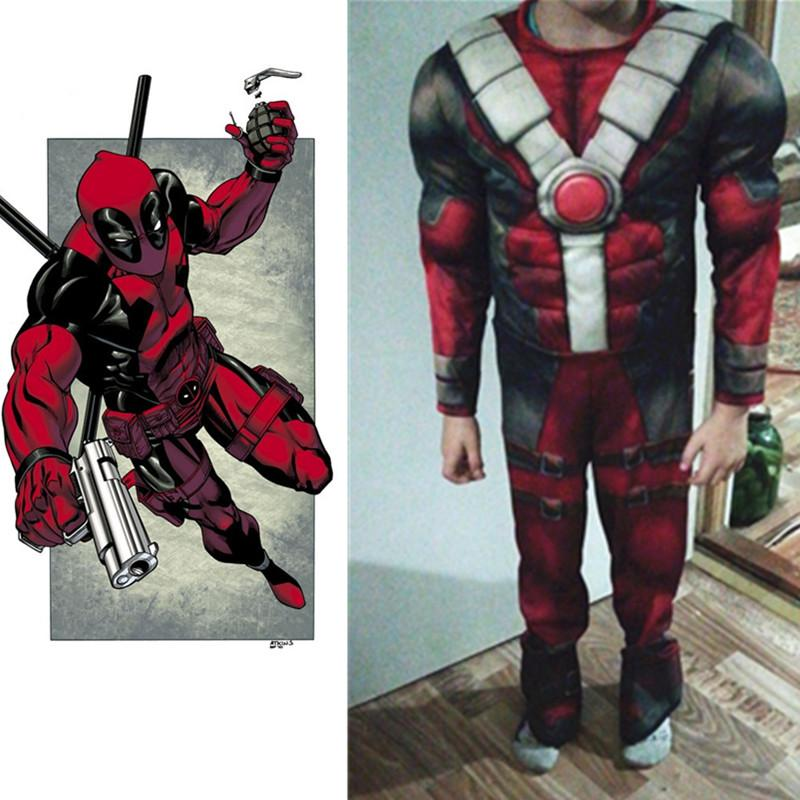 d16e515f09e New Arrival Deluxe Boys Marvel Deadpool Flash Thor Costume Children Muscle  Movie Halloween Carnival Party Cosplay Costumes 4 Person Group Halloween  Costumes ...
