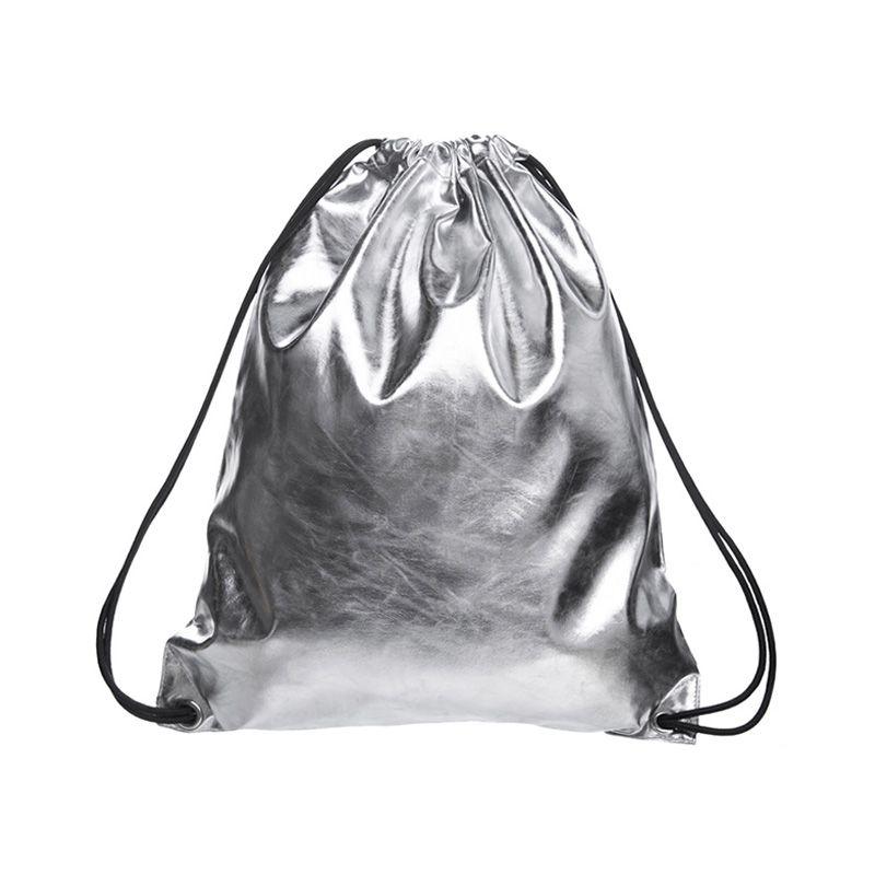 Backpack Solid Color Casual Drawstring Bag Women PU Leather Travel  Backpacks Fashion Sliver Unisex Back Pack School Bag Pack Swiss Gear  Backpack Osprey ... c09fcaf45b02c