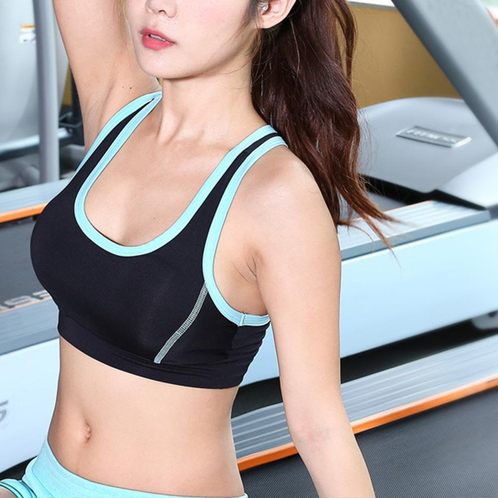 f567746351 2019 Yoga Clothing Professional High Strength Vest Type Shock Proof Sports  Underwear Running Fitness Quick Drying Thin Bra From Duriang