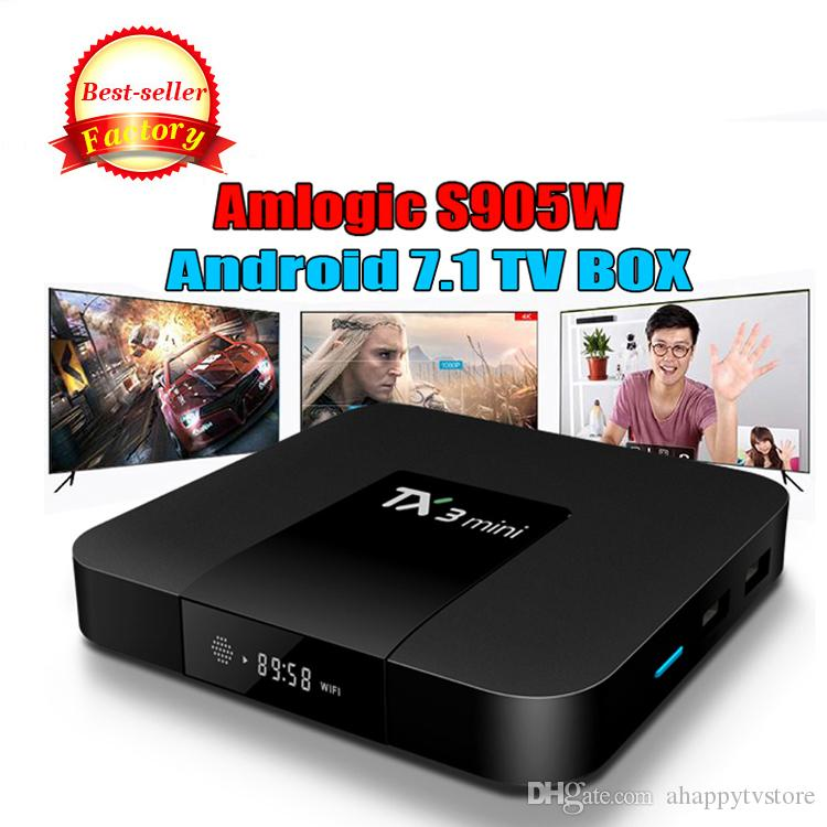 Amlogic S905W Quad Core TV BOX TX3 mini 1 Go 8 Go Internet Android 7.1 TV Boxes 4K Wifi DLNA Meilleur MXQ PRO RK3229