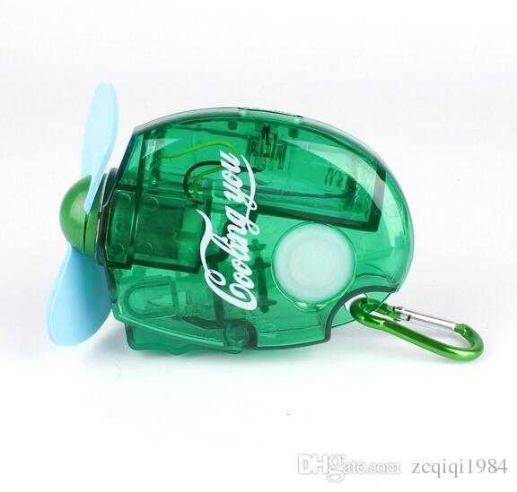 حار بيع البسيطة المحمولة الكهربائية رذاذ الماء ميست مروحة التبريد 3 ألوان الرياضة شاطئ السفر مروحة التبريد