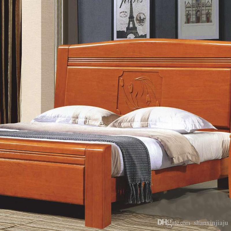 Großhandel Modernes Minimalistisches Massivholz Schlafzimmer ...
