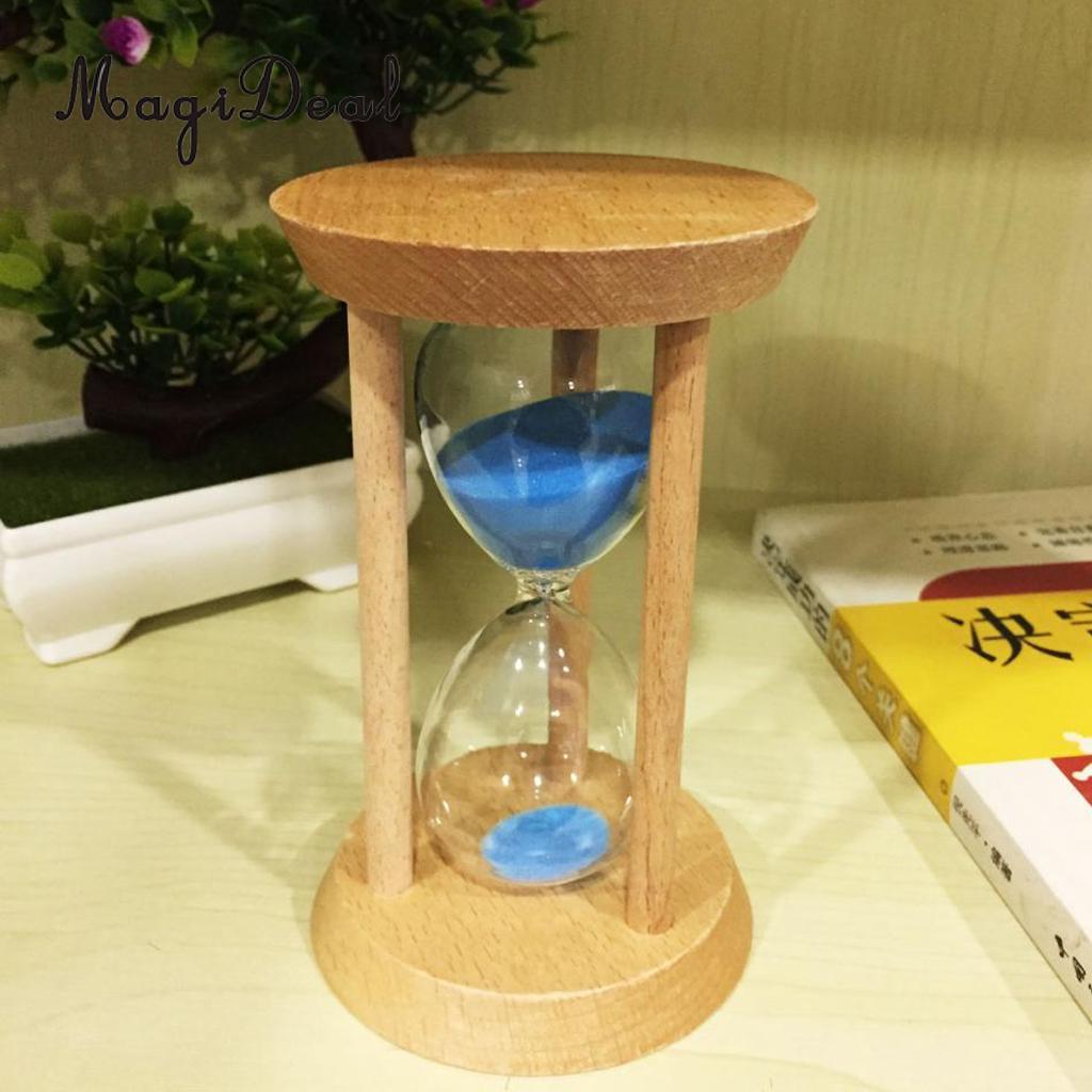 Großhandel Runde Form Sand Glas Sanduhr 15 Minuten Schiefe Holz