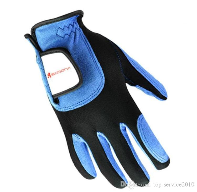 BOODUN Golf Men's Gloves Leather Sheepskin Gloves Blue This link is for one price (left or right hand)