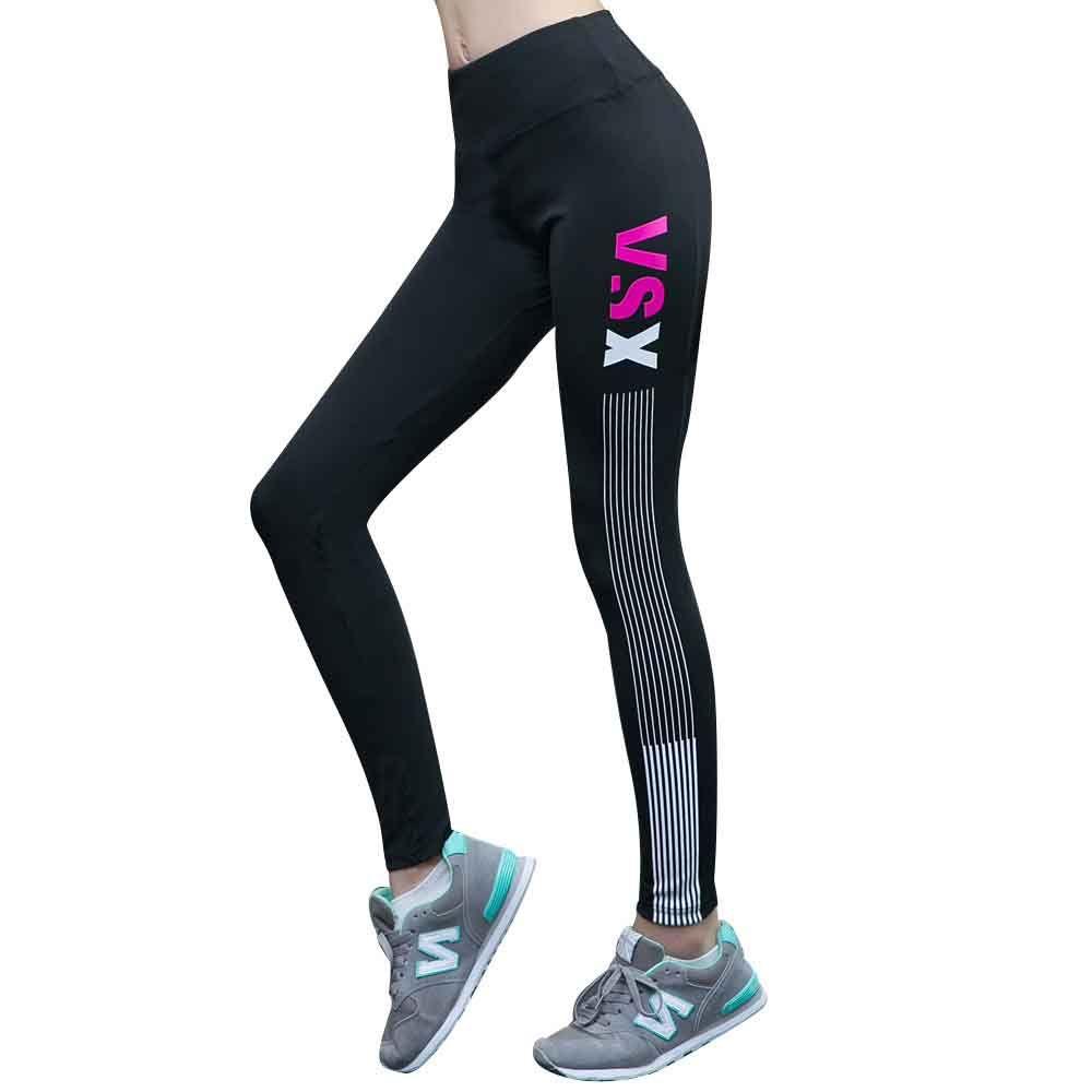 Compre Pantalones De Yoga Mallas Para Correr Jogging Gimnasio Fitness  Basculador Polainas De Las Mujeres Cintura Alta Compresión Pantalones  Transpirables ... 173d649ae137