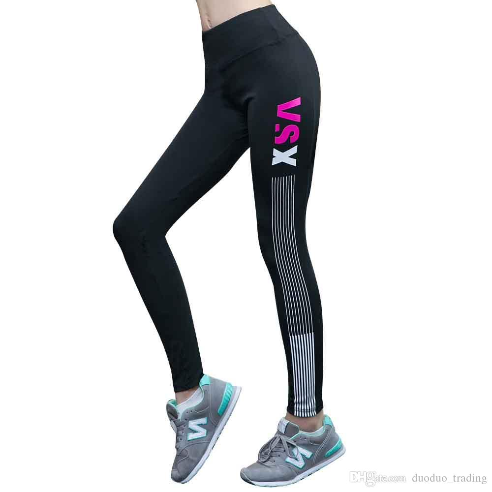 0beaf3f63d 2019 Yoga Pants Running Tights Jogging Gym Fitness Jogger Women Leggings High  Waist Compression Breathable Pants Female Hot Products Comfortable From ...