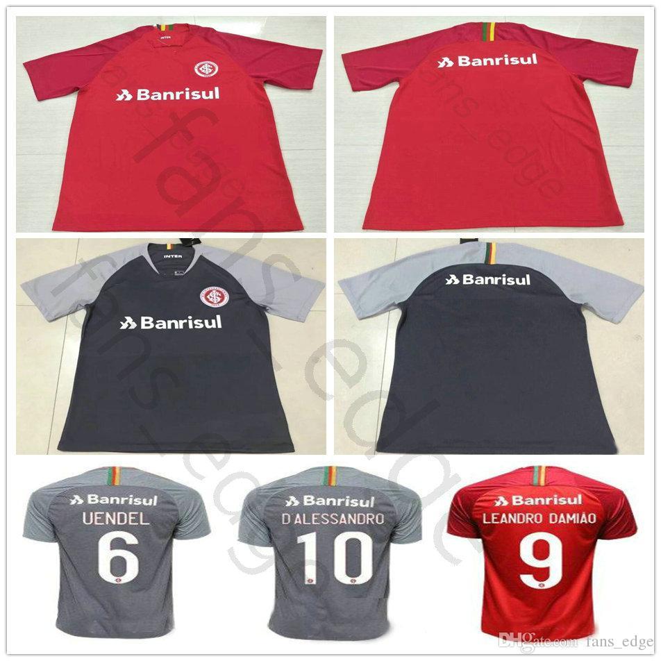 Compre 2018 2019 Sport Club Internacional Camisas De Futebol N. LOPEZ  D.ALESSANDRO POTTKER Em Branco Damiao Silva Custom Home Vermelho 18 19  Camisas De ... dec1b3c4f1943