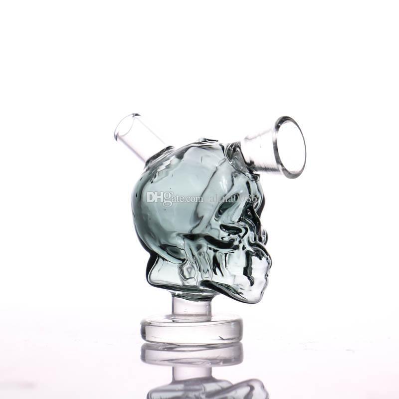 Viajes nuevo Mini Cráneo de cristal Bongs de agua Mini Bong Bong pelele Conjunto de burbujas de fumadores de pipa de agua