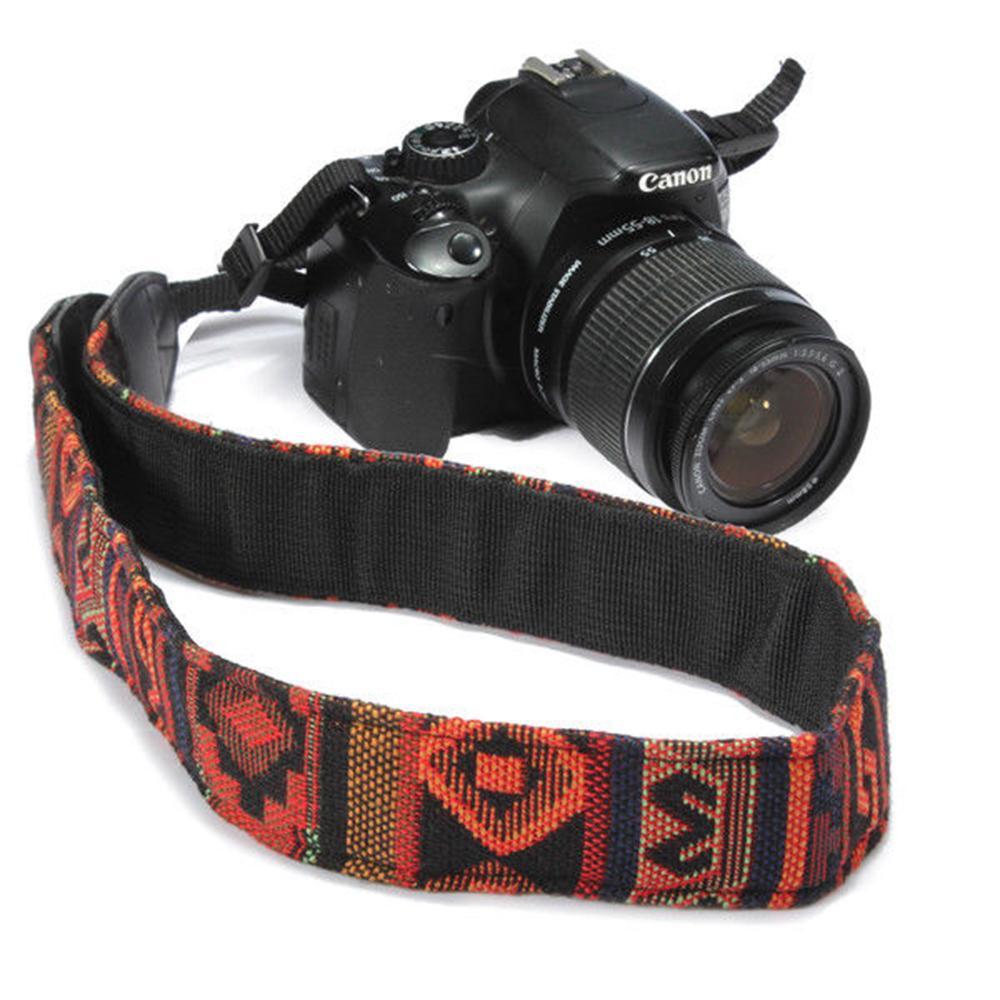 5 Couleurs Coloré Caméra Épaule Courroie Ceinture Style Ethnique Ceinture Ceinture Pour SLR DSLR Nikon Canon Sony Panasonic AAA232