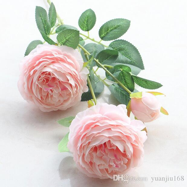 gro handel 3 k pfe k nstliche blumen pfingstrose bouquet silk blumen brautstrau herbst. Black Bedroom Furniture Sets. Home Design Ideas