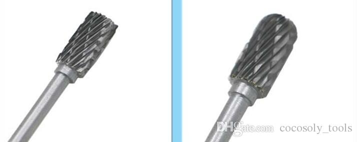 "1/8"" Shank Tungsten Carbide Milling Cutter Rotary Tool Burr Double Diamond Cut Rotary Dremel Tools Electric Grinding"