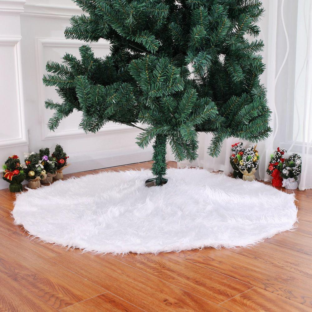 creative white plush christmas tree skirts fur carpet xmas