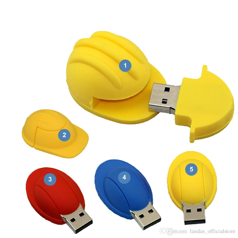Nuevo 64GB Pendirve Flash Drive 4GB 8GB 16GB 32GB USB Memoria Casco Stick USB Regalo personalizado USB Flash Pen Drive