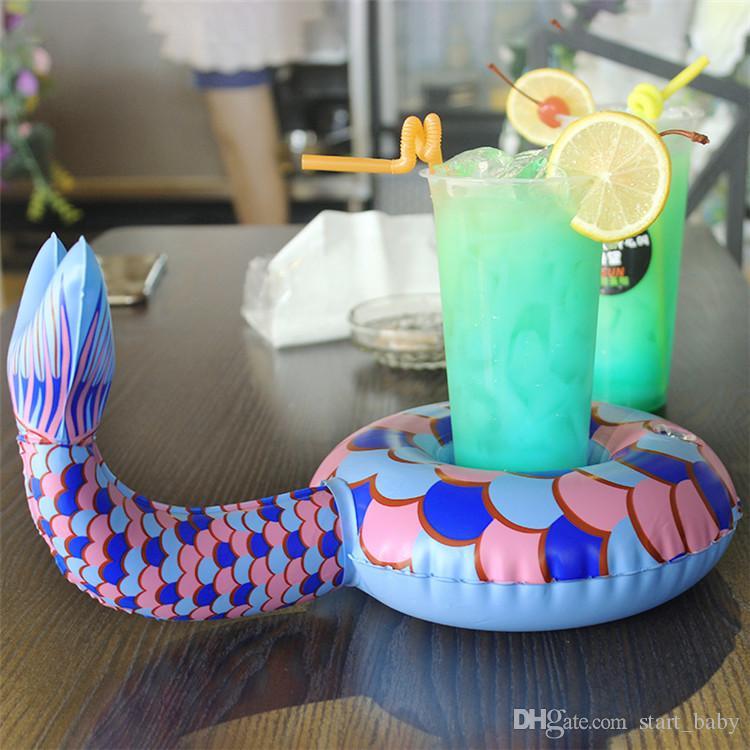 9 Estilo Titular de Bebidas Inflables Swan Cup Unicorn flamenco sirena Titular Baño de Natación Al Aire Libre Juguetes Para Niños Juguetes Flotantes de Agua del partido B11
