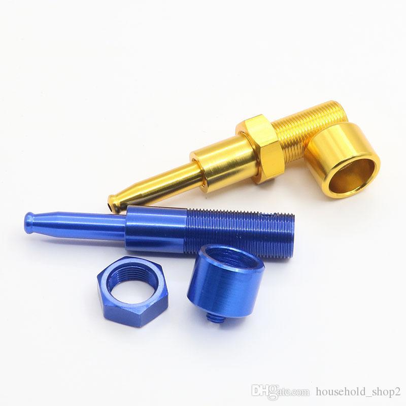 DHL vida şekli smok boruları metal 5 renk 7.8 cm düz taşınabilir mini tabacco boru opp çantası