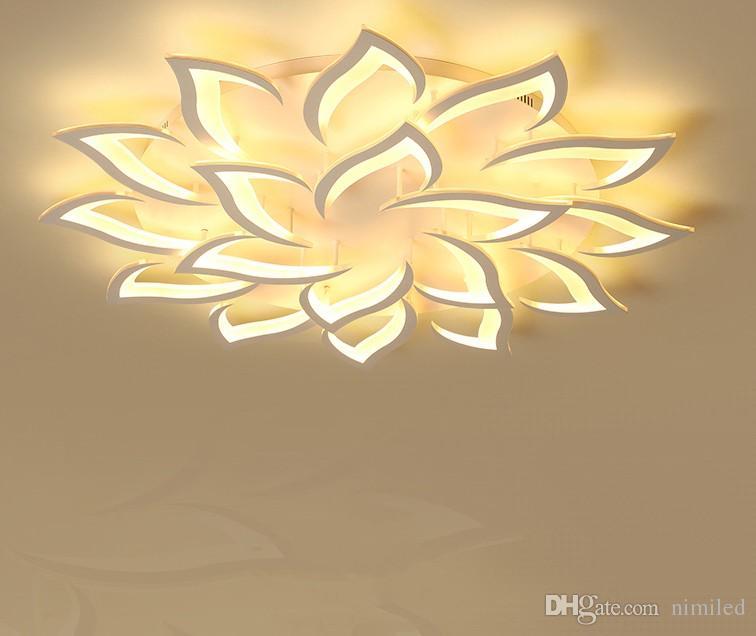 Ceiling Lights & Fans Ac85v~260v Modern Led Ceiling Lights For Living Room Bedroom Creativity Flower Type Lighting Fixtures Ceiling Lamp Free Shippin Ceiling Lights