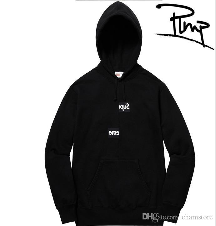c045f49c2b88 2019 SUP Supre CDG SHIRT Split Brand Hoodie Mens Box Logo Designer ...