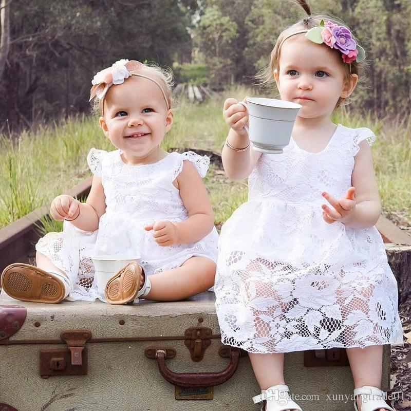 Girls Clothes Ins 2018 Summer Fly Sleeve Infant Newborn Baby Romper