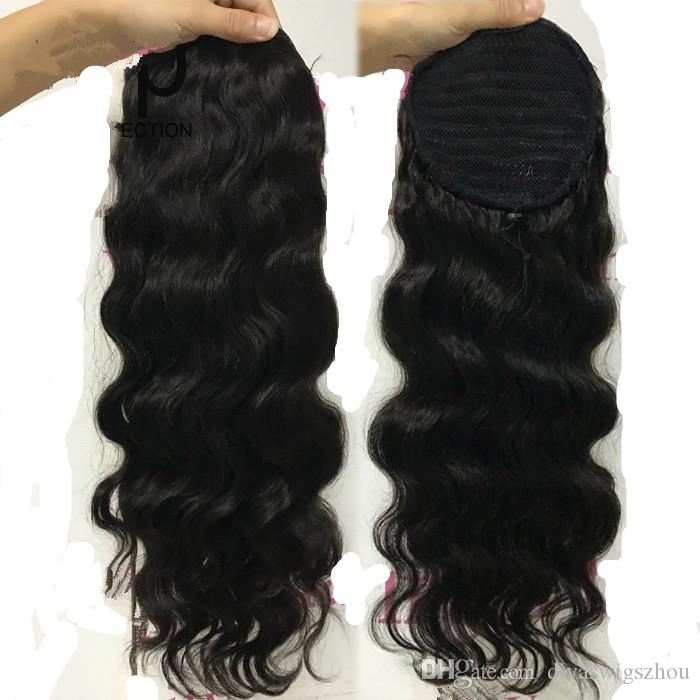 human hair ponytail hairpieces for black women clip in high curly wavy human hair 140g wrap drawstring afro ponytail hair extensions