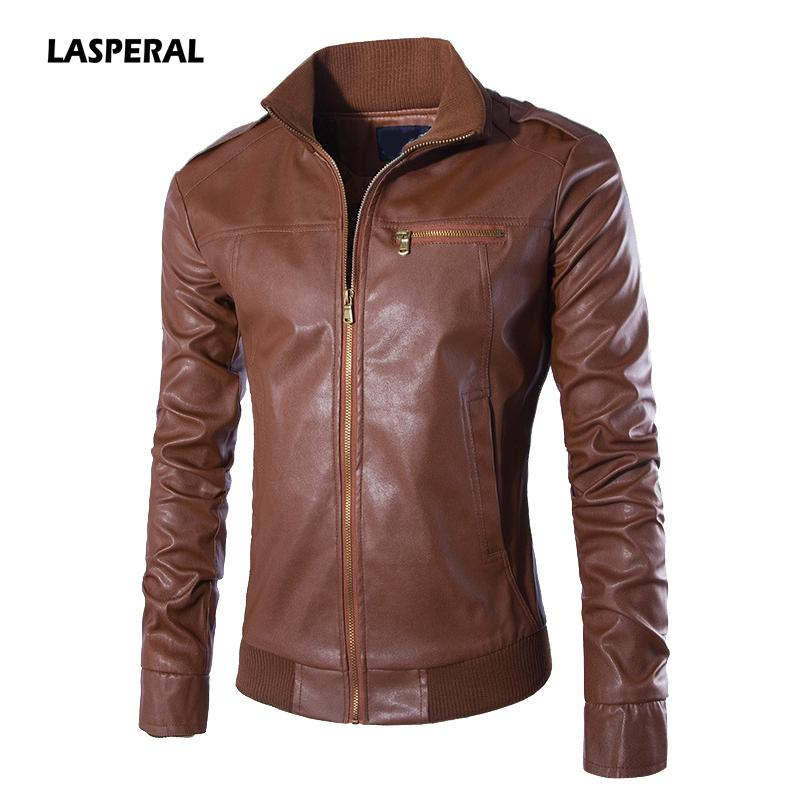 4edf6bb48984b1 LASPERAL 2017 Winter Men Motorcycle Biker Leather Jacket Mens Jaqueta de  couro Masculina Leather Jacket Coats Outwear Plus Size